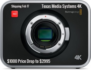 Blackmagic 4K Camera Price Reduced to $2995 at Texas Media Systems