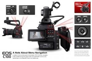 Canon C100 Menu Simulator Texas Media Systems
