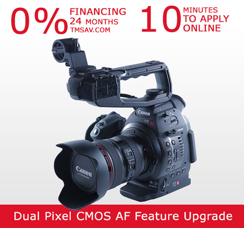 Canon C100 Auto Focus with 24-105mm Lens