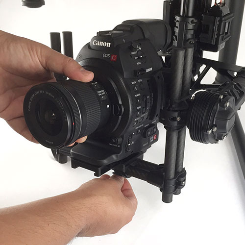 Canon  C100 MkII on the MoVI