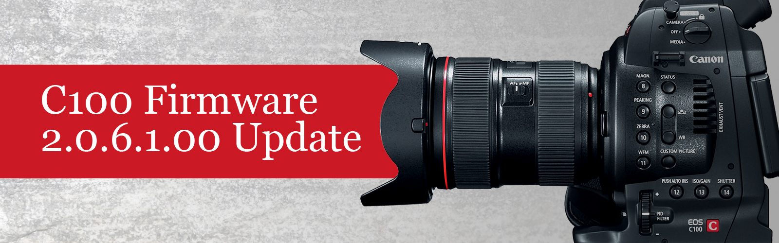Canon eos c100, c300, and c500 camcorders receive new firmware.